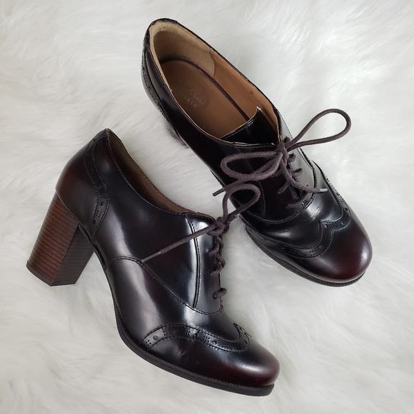 Clark's Artisan Ciera Brine Leather Oxford Heels